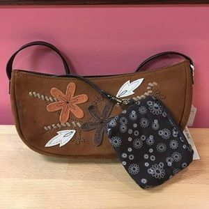 Handbags - NWT Suede Bag with attached coin purse